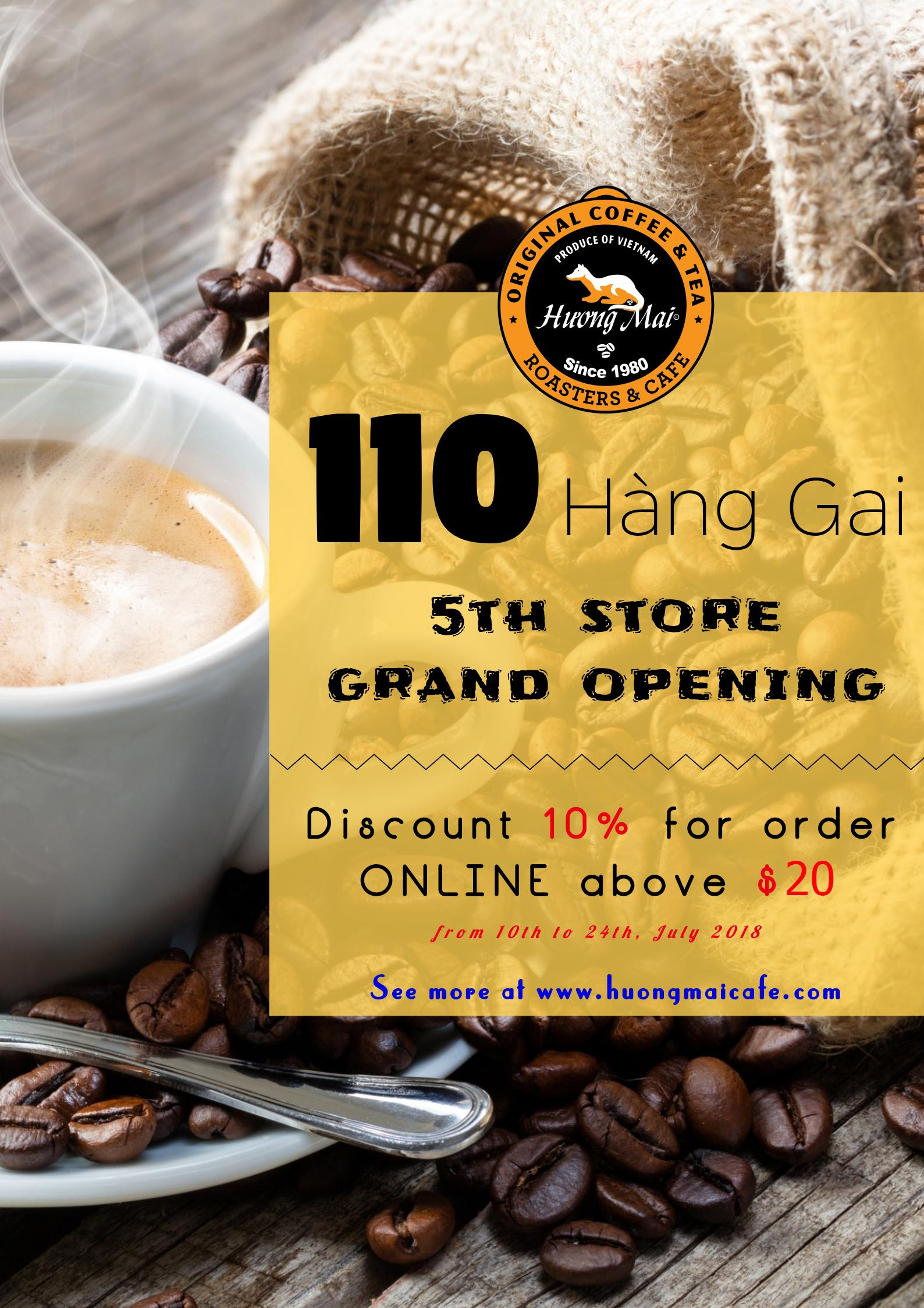 GRAND OPENING 5TH STORE - HUONGMAI CAFE