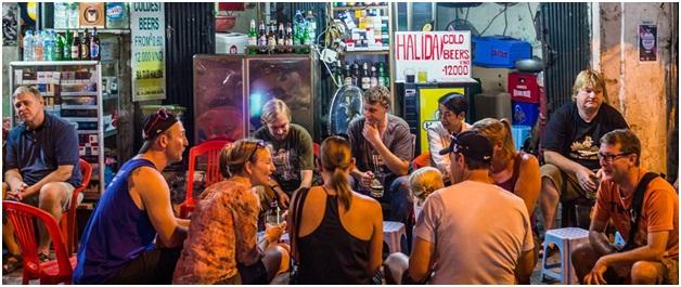 Beer Street in Hanoi